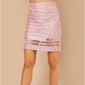 Knitted skirt pink skirt